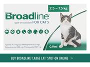 Broadline for cats - Broadline spot-on solution flea & tick treatment