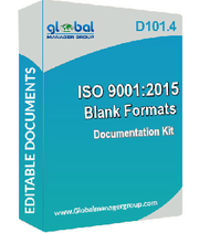 ISO 9001 Forms for all The Departments - Document Kit