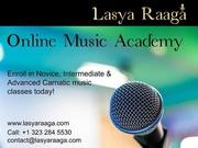 Learn Carnatic Vocal Music Classes In Online | Lasya Raaga